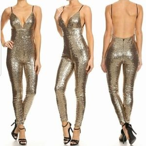 Pants - Back out sequin jumpsuits